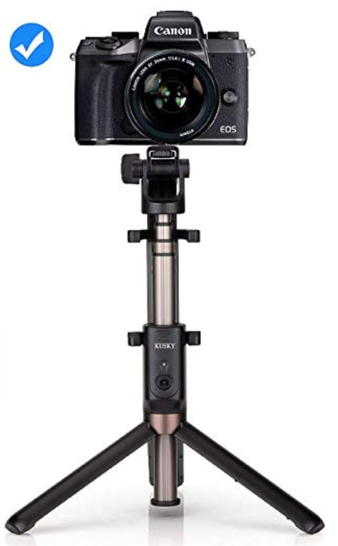 Selfie Stick Bluetooth, 4-in-1 Extendable Selfie Stick Tripod with Wireless Remote Shutter for iPhone X/8/8P/7/7P/6s/6P, Galaxy S9/S9 Plus/S8/S7/ S6/S5/Note 8, Google, Huawei and More