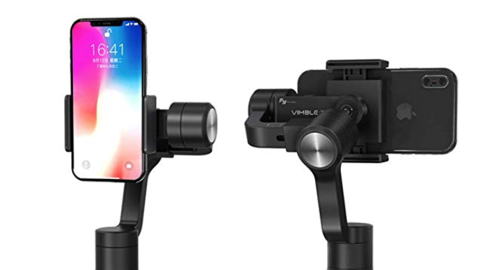 Feiyutech Vimble 2 Smartphone Gimbal 3-Axis Handheld Stabilizer Extendable Pole Tripod for iPhone X 8 7 Samsung S8+S9 Plus XIAOMI Mobile Phone (Black)