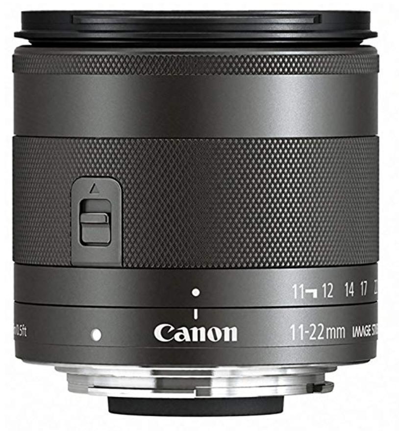 Canon EF-M 11-22mm f/4-5.6 STM Lens, Black - 7568B002
