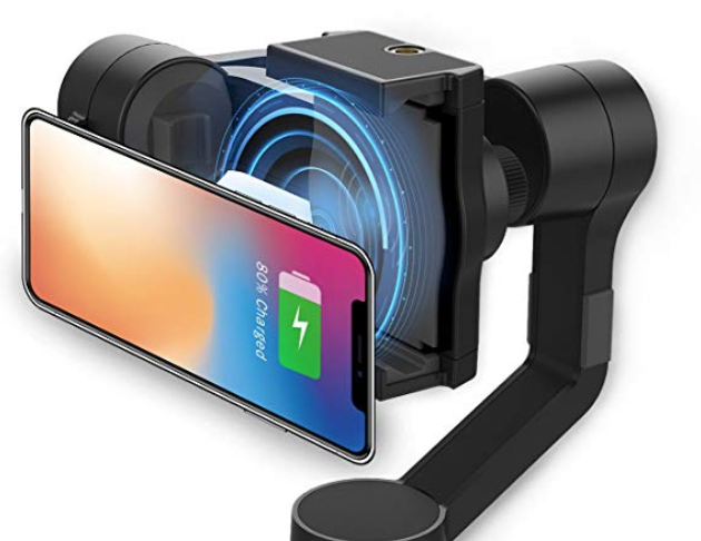 MOZA Mini-MI 3-Axis Gimbal stabilizer for Smartphone iPhone Vlog Youtuber Live Video Record Wireless Phone Charging Multiple Subjects Detection 360°Inception Stunning Motion Timelapse