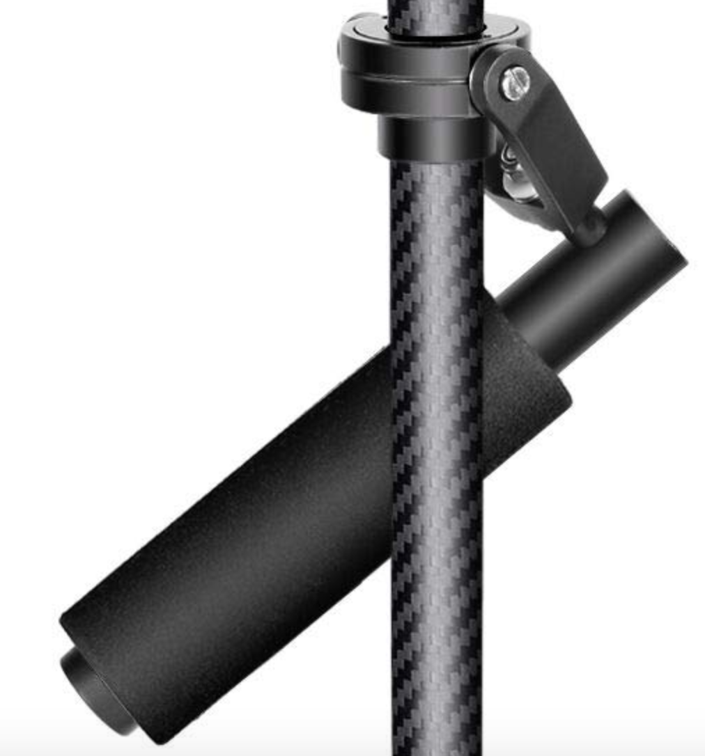 Neewer Carbon Fiber 24 inches/60 Centimeters Handheld Stabilizer with 1/4 3/8 inch Screw Quick Shoe Plate for Canon Nikon Sony and Other DSLR Camera Video DV up to 6.6 pounds/3 kilograms (Black)
