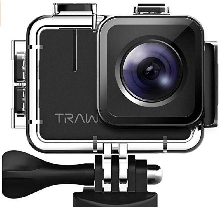 APEMAN TRAWO A100 Real 4K Action Camera WiFi 20MP Waterproof Camera Underwater 40M with EIS 2 inch IPS Screen and 2x1350mAh Batteries, for Yutube/Vlog Videos